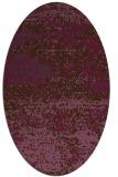rug #1065134 | oval purple abstract rug