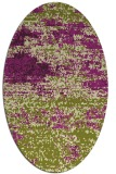 rug #1065138 | oval green abstract rug