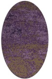 rug #1065142 | oval purple graphic rug
