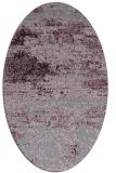 rug #1065146 | oval purple graphic rug