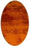 rug #1065154 | oval red graphic rug