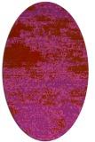 rug #1065162 | oval pink graphic rug