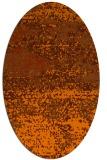 rug #1065166 | oval red-orange graphic rug