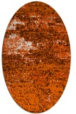 rug #1065178 | oval red-orange abstract rug