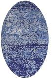 rug #1065194   oval blue abstract rug