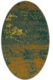 rug #1065226 | oval light-orange abstract rug