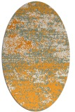 rug #1065258 | oval light-orange abstract rug