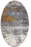 rug #1065262 | oval white abstract rug