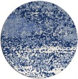 rug #1065682 | round blue graphic rug