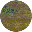rug #1065714 | round green abstract rug