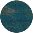 rug #1065766 | round green abstract rug