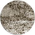 rug #1065794 | round white graphic rug