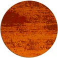 rug #1065890 | round orange graphic rug