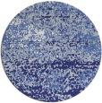 rug #1065930 | round blue graphic rug