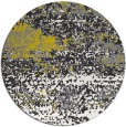 rug #1065958 | round white abstract rug