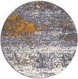 rug #1065998 | round light-orange abstract rug