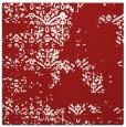 rug #1068470 | square red damask rug