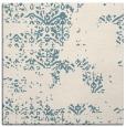 rug #1068518   square blue-green damask rug
