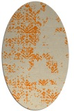 rug #1068578 | oval orange faded rug
