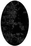 rug #1068586 | oval black graphic rug
