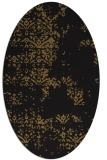 rug #1068598 | oval black traditional rug