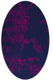 rug #1068614 | oval blue damask rug