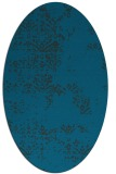 rug #1068642 | oval blue-green rug