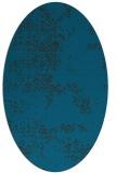 rug #1068646 | oval blue damask rug