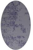 rug #1068670   oval blue-violet faded rug