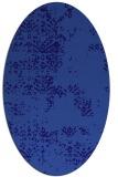 rug #1068682 | oval blue-violet graphic rug