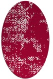 rug #1068698 | oval red traditional rug