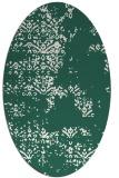 rug #1068714 | oval green damask rug