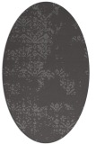 rug #1068730 | oval brown graphic rug