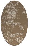 rug #1068734 | oval beige damask rug
