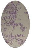 rug #1068762 | oval purple traditional rug