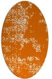 rug #1068786   oval orange faded rug