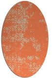 rug #1068790 | oval orange traditional rug