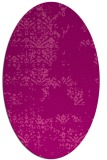 rug #1068798   oval pink damask rug