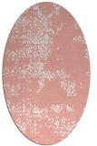 rug #1068810 | oval white faded rug