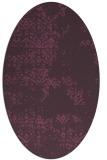 rug #1068814 | oval purple faded rug