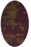 rug #1068818 | oval green traditional rug