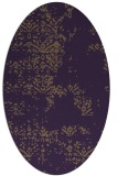 rug #1068822 | oval mid-brown faded rug