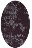 rug #1068826 | oval purple faded rug