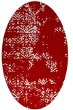 rug #1068830 | oval red traditional rug