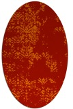 rug #1068834 | oval red damask rug