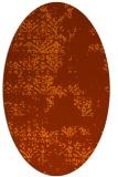 rug #1068846 | oval red-orange damask rug