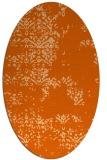 rug #1068850 | oval red-orange damask rug