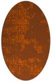 rug #1068854   oval red-orange faded rug