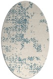 rug #1068886 | oval white faded rug