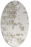 rug #1068890 | oval white faded rug